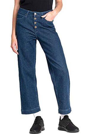 Lee Dames Wide Leg Straight Jeans, Bleu (Dark Wilma Gr), 26W x 33L