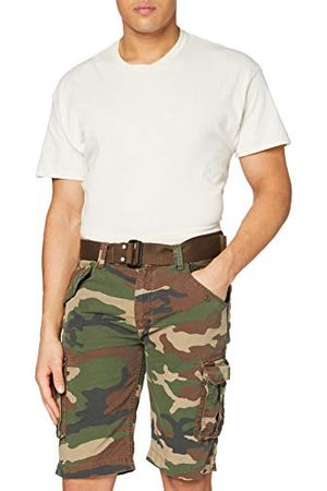 Schott NYC Heren korte militaire bermudashorts, Camo Kaki 19, 38 NL