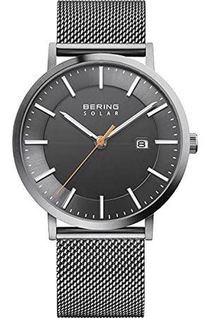 Bering Herenhorloge, analoog, kwarts, met roestvrijstalen armband 15439-377