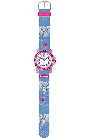 Scout 280375027 Analoog kwartshorloge voor meisjes, met stoffen armband