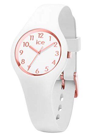 Ice-Watch ICE glam White Rose-Gold Numbers - dameshorloge met siliconen armband - 015343 (Maat XS)