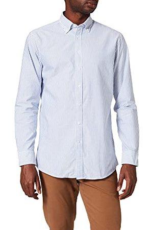 Seidensticker Modern herenoverhemd met lange mouwen en button-down kraag, zacht gestreept, slim businesshemd
