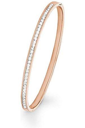 s.Oliver Dames Armbanden - Bangle voor dames met Swarovski-kristallen, roestvrij staal, IP