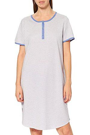 Calida Dames Lovely Nights nachthemd korte mouwen pyjama bovendeel, gebleekte denim, 48 NL