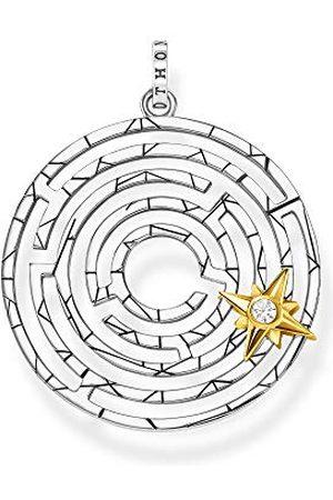 Thomas Sabo Dameshanger Labyrint met gouden ster 925 sterling zilver geelgoud verguld PE851-849-14
