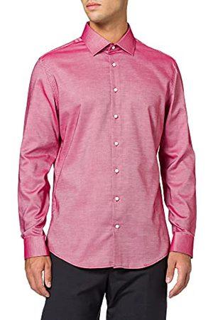 Seidensticker Herenhemd van eenkleurig, chique overhemd met extra draagcomfort en een Kent-kraag, pasvorm slim fit, lange mouwen, 100% katoen