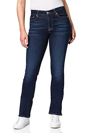 7 for all Mankind Dames The Straight Rinsed Blue Jeans