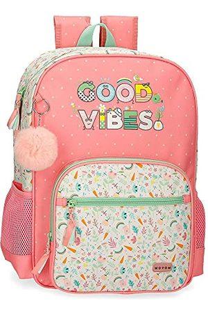 MOVOM Good Vibes schoolrugzak, aanpasbaar aan de auto, 31 x 42 x 13 cm, polyester, 16,93 l
