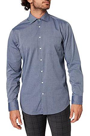 Seidensticker Zakelijk overhemd voor heren, strijkvrij hemd met rechte snit, regular fit, lange mouwen, kent-kraag, borstzak, 100% katoen