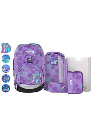 Ergobag Pack sledemagbeer Glow, ergonomische schoolrugzak, set 6-delig, 20 liter, 1.100 g, lila