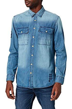 Camel Active Heren 4091316S61 overhemd, indigo, 5XL