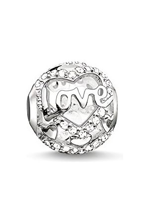 Thomas Sabo K0177-051-14 Bead voor dames, hart, liefde, karma beads, 925 sterling zilver, zirkonia