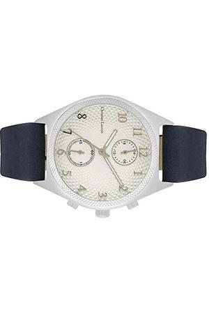 Christian Lacroix Heren Horloges - Heren quartz horloge met lederen band CLMS1801