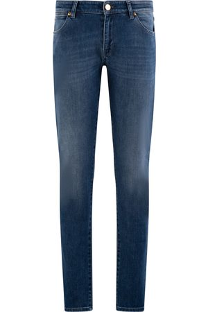 Pt, Heren Straight - Pantaloni Torino Jeans Heren Donkerblauw Cotton Stretch