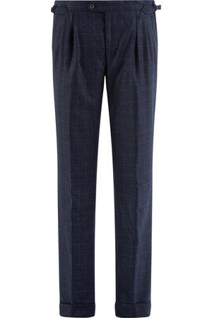 SOC13TY Heren Pantalons - SOCI3TY Pantalon Heren Donkerblauw Wool