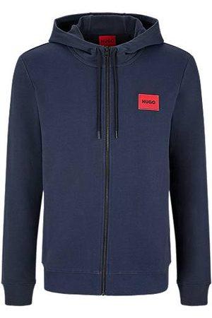 HUGO BOSS Sweatshirt van katoenen sweatstof met ritssluiting en logopatch