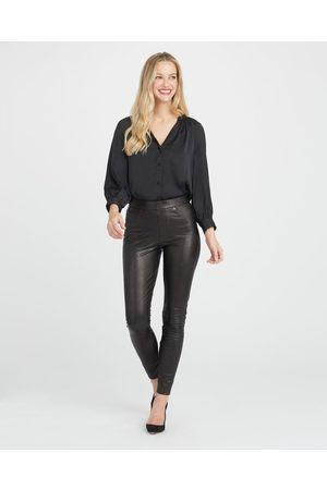Spanx The Leather Like Ankle Skinny Pant |