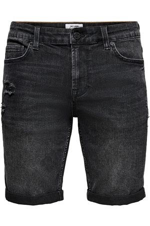 Only & Sons Heren Shorts - Jeans 'ONSPLY LIFE BLACK PK 9562 NOOS