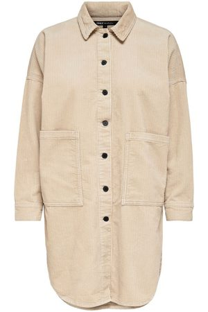 ONLY Dames Blouses - Corduroy Overhemd Dames Beige