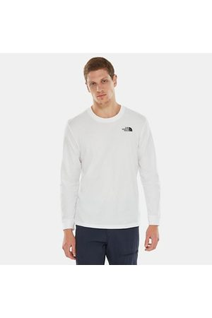The North Face The North Face Simple Dome-t-shirt Met Lange Mouwen Voor Heren Tnf White Größe L Heren