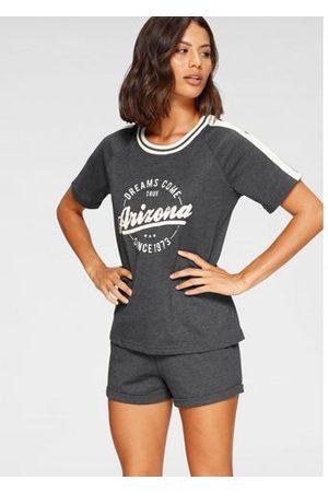 ARIZONA Dames Pyjama's - Shortama in college-look met folieprint