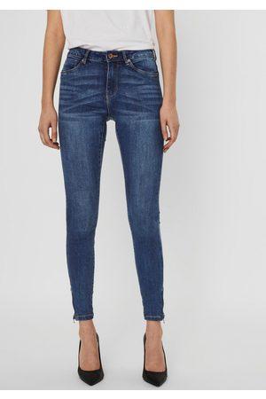 Vero Moda Dames Skinny - Skinny fit jeans VMTILDE met rits bij de zoom