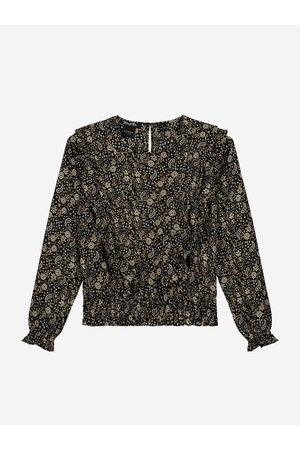 NIK&NIK Dames Blouses - Paisley Print Blouse 4 / Black