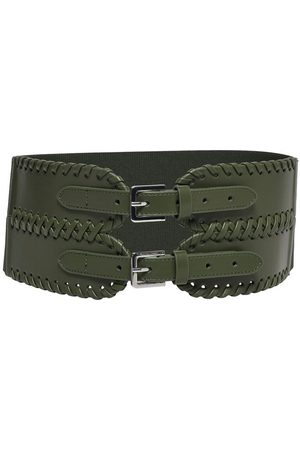 ONLY Wide Waist Faux Leather Belt Dames Green