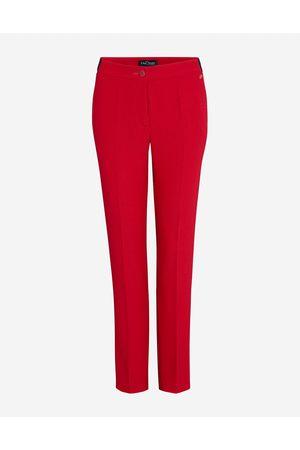LaDress Dames Slim & Skinny broeken - Kleding Broeken & jeans Broeken Slim & skinny broeken Seoul Crêpe satin broek