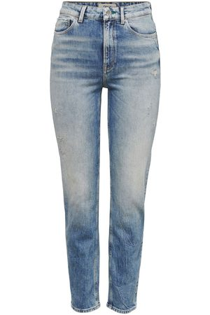 ONLY Onlemily Life Hw Ankle Straight Fit Jeans Dames Blauw