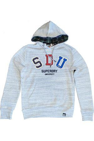 Superdry Stevige zachte grijze sweater hoodie