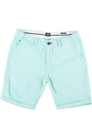 Dstrezzed Turquoise twill cotton chino short