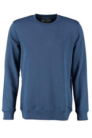 Garcia Blauwe sweater biologisch katoen - valt ruim