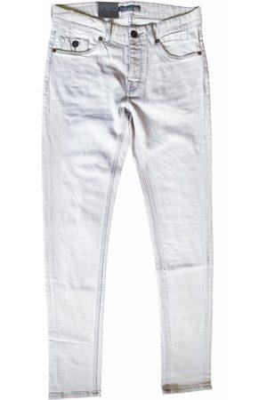 Cast Iron Riser sgb grey bleached slim fit jeans met destroyed plekken