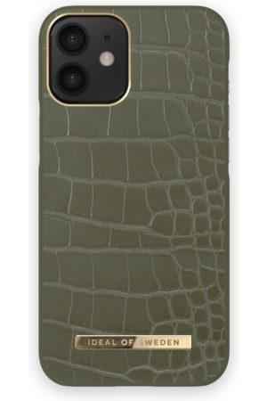 IDEAL OF SWEDEN Telefoon - Atelier Case iPhone 12 MINI Khaki Croco