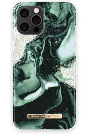 IDEAL OF SWEDEN Fashion Case iPhone 12 Pro Max Golden Olive Marble