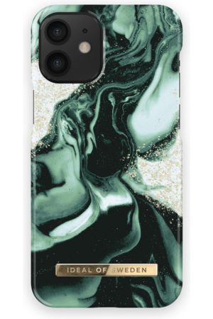 IDEAL OF SWEDEN Telefoon - Fashion Case iPhone 12 Mini Golden Olive Marble