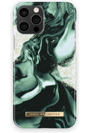 IDEAL OF SWEDEN Fashion Case iPhone 12 Pro Golden Olive Marble