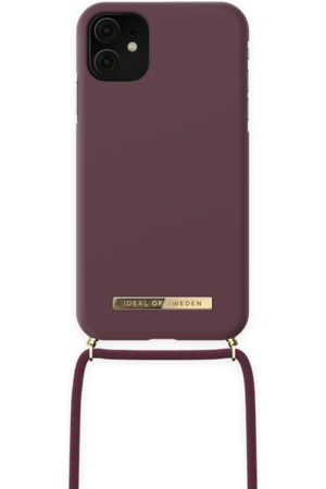 IDEAL OF SWEDEN Telefoon - Ordinary Necklace iPhone 11 Deep Cherry