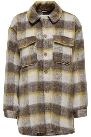 Only Checked Shacket Dames Beige