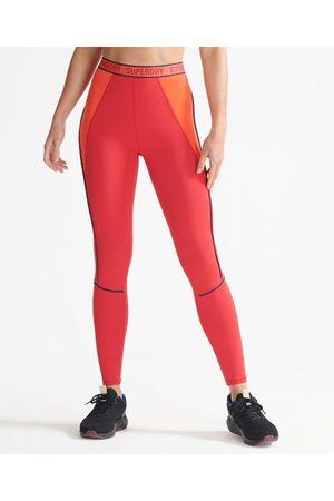 Superdry Dames Sportleggings - Sport Elastische strakke legging met Train-merklogo