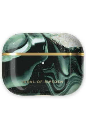 IDEAL OF SWEDEN Telefoon - Fashion AirPods Case Pro Golden Olive Marble