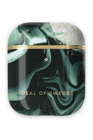 IDEAL OF SWEDEN Telefoon - Fashion AirPods Case Golden Olive Marble