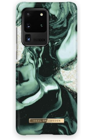 IDEAL OF SWEDEN Telefoon - Fashion Case Galaxy S20 Ultra Golden Olive Marb