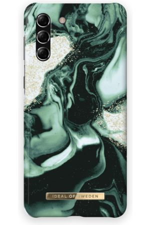 IDEAL OF SWEDEN Telefoon - Fashion Case Galaxy S21 Plus Golden Olive Marble