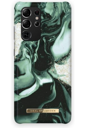 IDEAL OF SWEDEN Fashion Case Galaxy S21 Ultra Golden Olive Marble