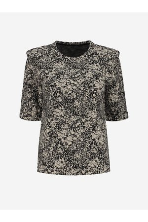Fifth House Straight Top with shoulder pads 34 / Flower Swirl
