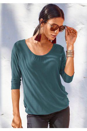 Lascana Shirt met 3/4-mouwen met fijne plooien bij de hals