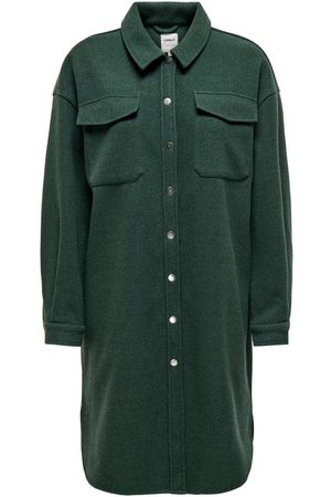 Only Dames Blouses - Lang Loose Fit Overhemd Dames Green