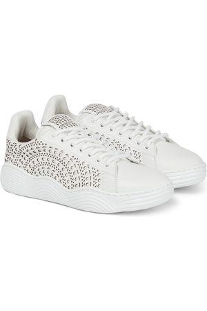 Alaïa Lazer-cut leather sneakers